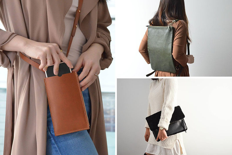 Style Ideas - This collection of modern handbags strives to combine function and versatility, but that are also refined, feminine, and minimal in their design. #ModernHandbags #StyleIdeas #MinimalistHandbags #LeatherHandbags #LeatherBackpack