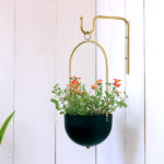Decor Idea – Add A Natural Touch With A Modern Hanging Planter And Matching Wall Hook