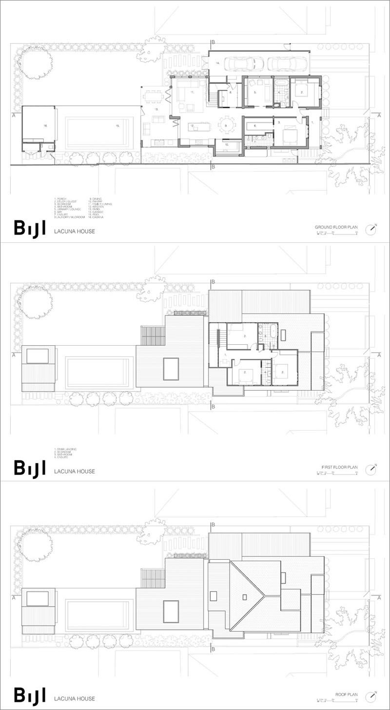 Bijl Architecture has designed a modern extension for the 'Lacuna House', that's located in Sydney, Australia. #FloorPlan #Architecture