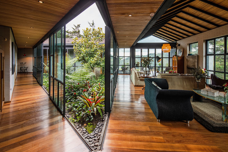 This Triangular Shaped House Makes Room For An Interior Garden