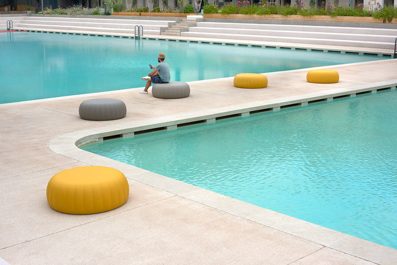 Italian architect and designer Roberto Paoli, has created the Gelée Collection, a group of modern indoor / outdoor furniture pieces that have been inspired by the shape and softness of jelly candy. #ModernFurniture #IndoorFurniture #OutdoorFurniture #FunFurniture