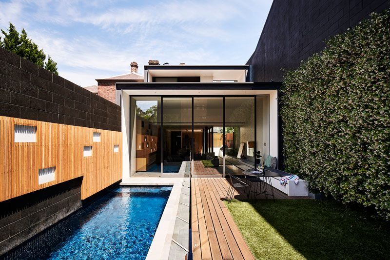 A New Pool And Garden Space Replaced A Small Courtyard