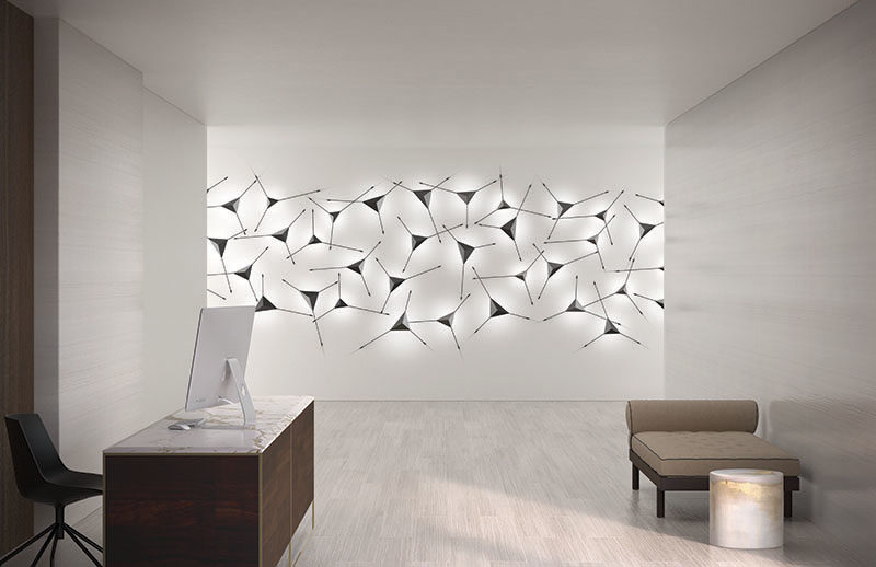 Lighting Ideas ? This Modern Sconce Doubles As Wall Art