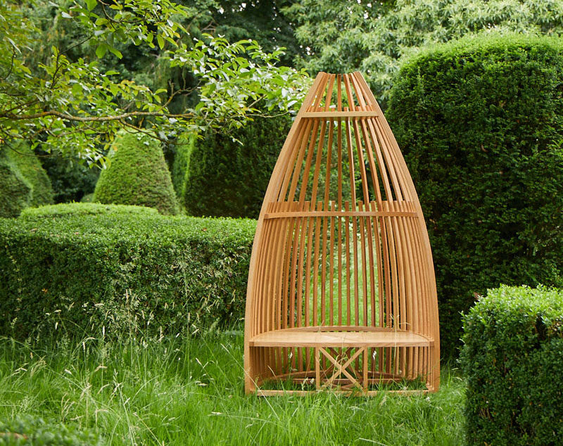Tremendous Tomoko Azumi Has Designed A Boat Shaped Garden Chair From Pabps2019 Chair Design Images Pabps2019Com