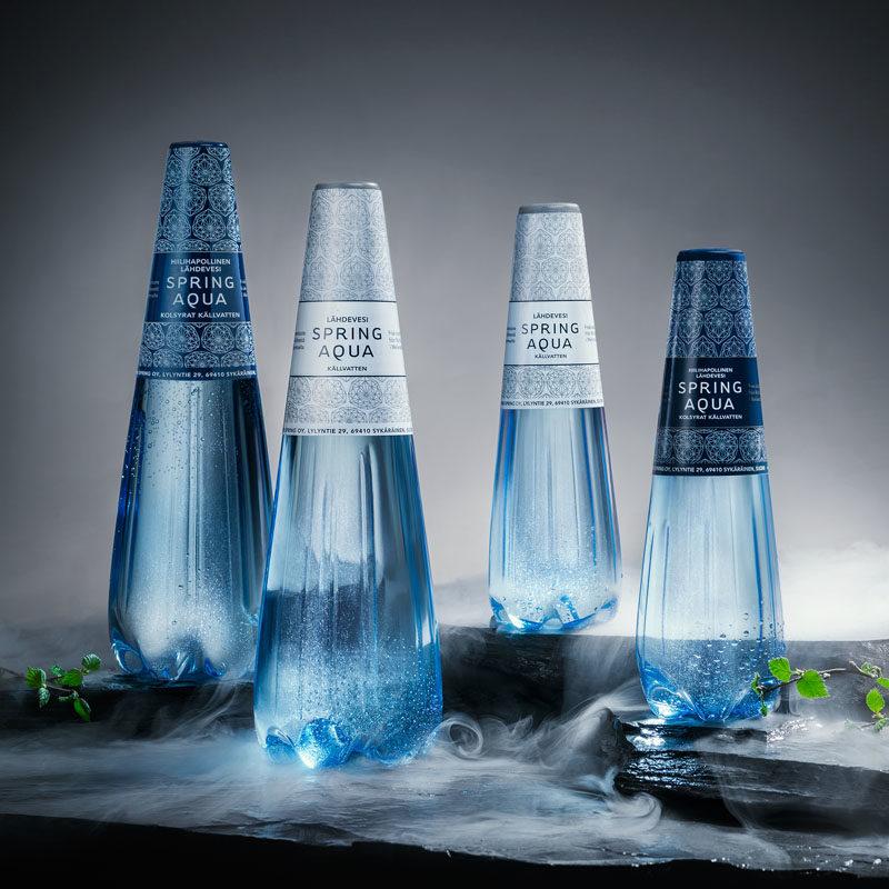 A Design Award - Spring Aqua Premium by Finn Spring Oy #PackagingDesign #Design #BottleDesign