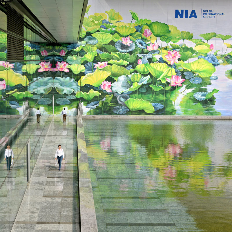 A Design Award - Twin Lotus by Nguyen Thi Thu Thuy #Mural #Art