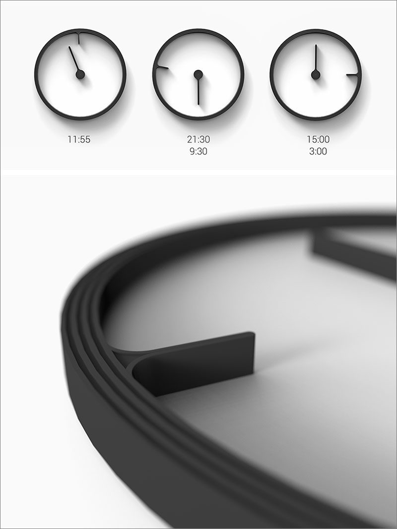 A Design Award Winner - Reverse Clock by Mattice Boets #ADesignAward #Clock
