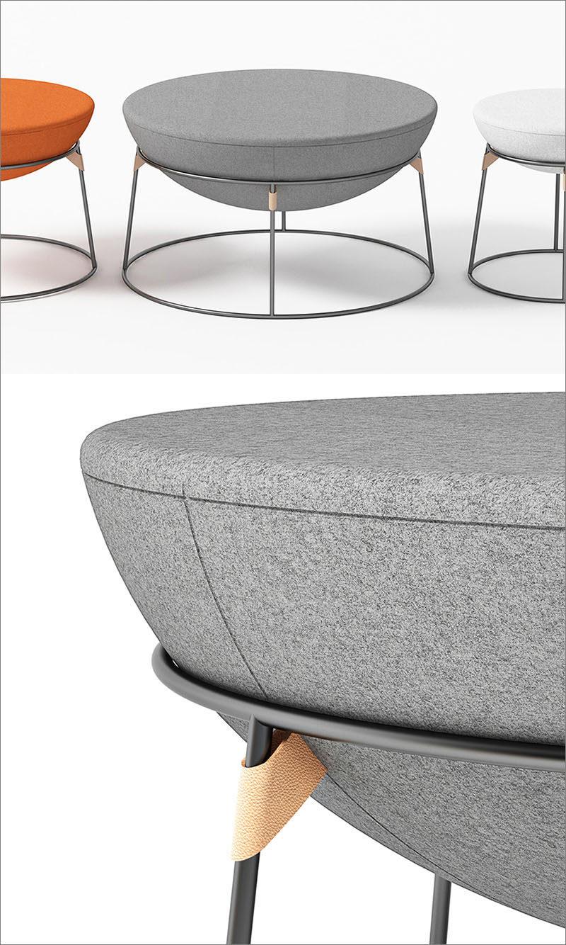 A Design Award Winner - Drum Pouf by Serge Atallah #ADesignAward