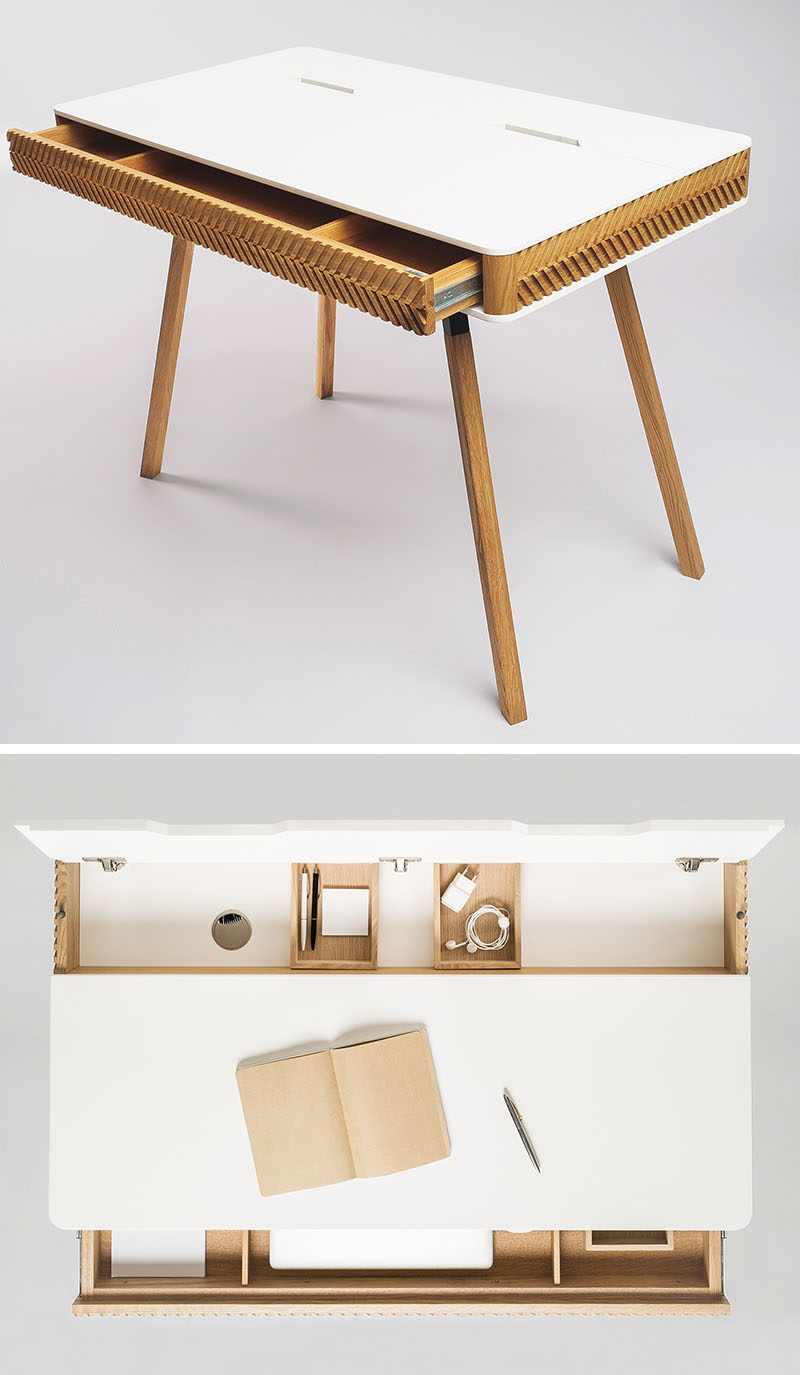 A Design Award Winner - Herringbone Writing Desk by Agne Balke #ADesignAward