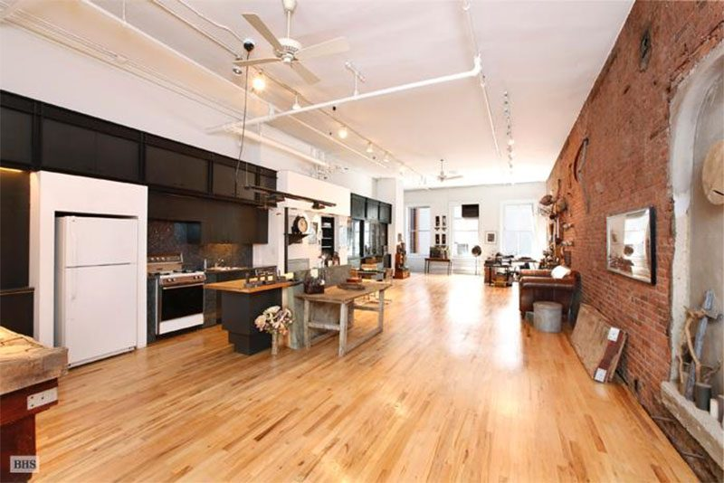 BEFORE PIC - This long open loft was gutted and renovated to remove the clutter while preserving what makes a classic Soho loft a loft. #ModernLoft #LoftApartment