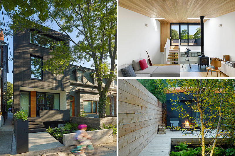 Architecture and design practice Great Lake Studio, has recently completed a new three storey modern house on a small lot in Toronto, Canada. #ModernArchitecture #ModernHouse #HouseDesign