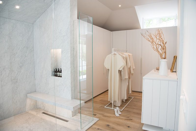 This Bathroom And Walk-In Closet Combination Are Fully Open To The Room