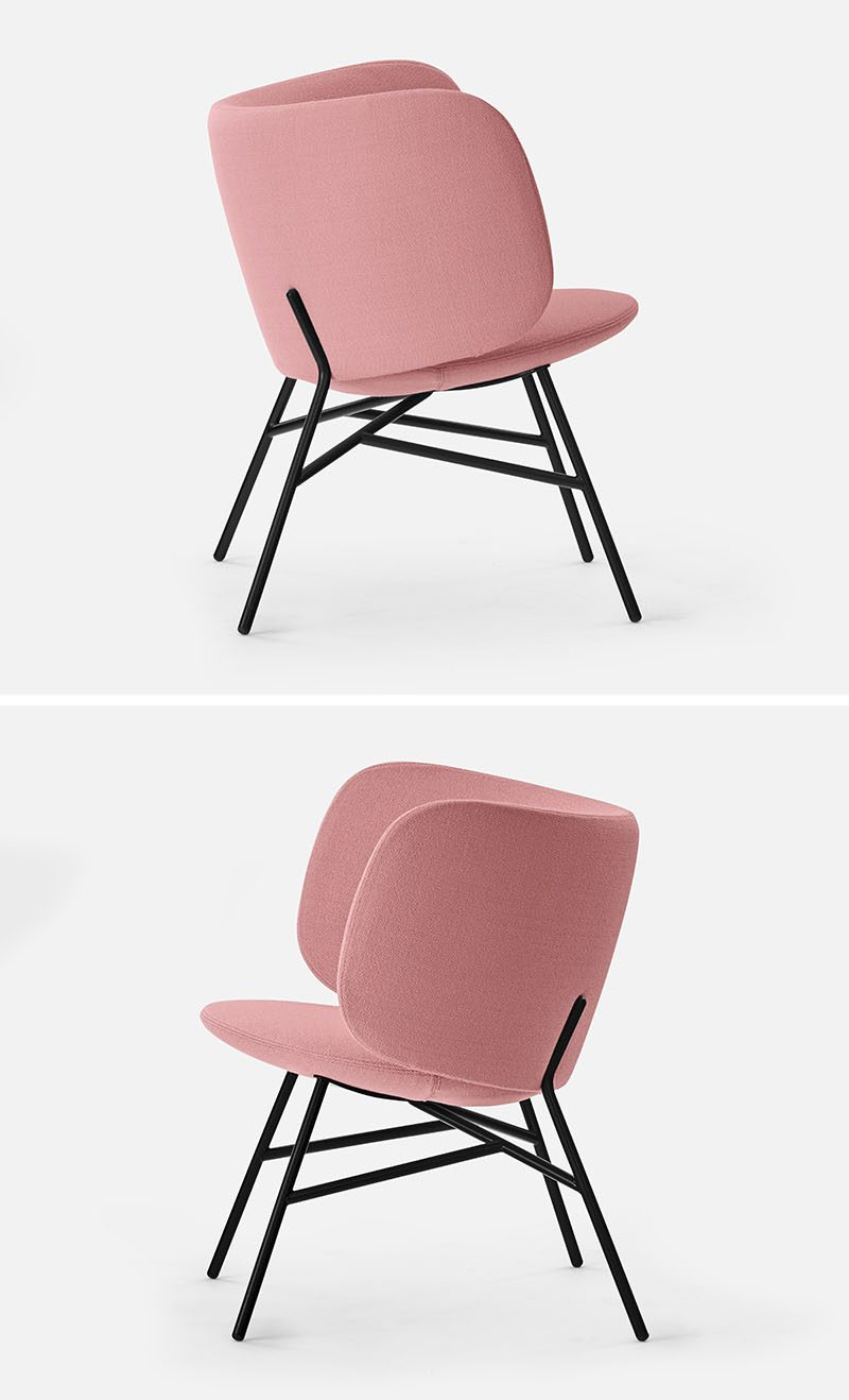 Danish design duo Busk + Hertzog have created 'Stella', a wide and comfortable modern lounge chair that has a curved backrest. #ModernSeat #ModernChair #Seating #Chair #Armchair #LoungeChair