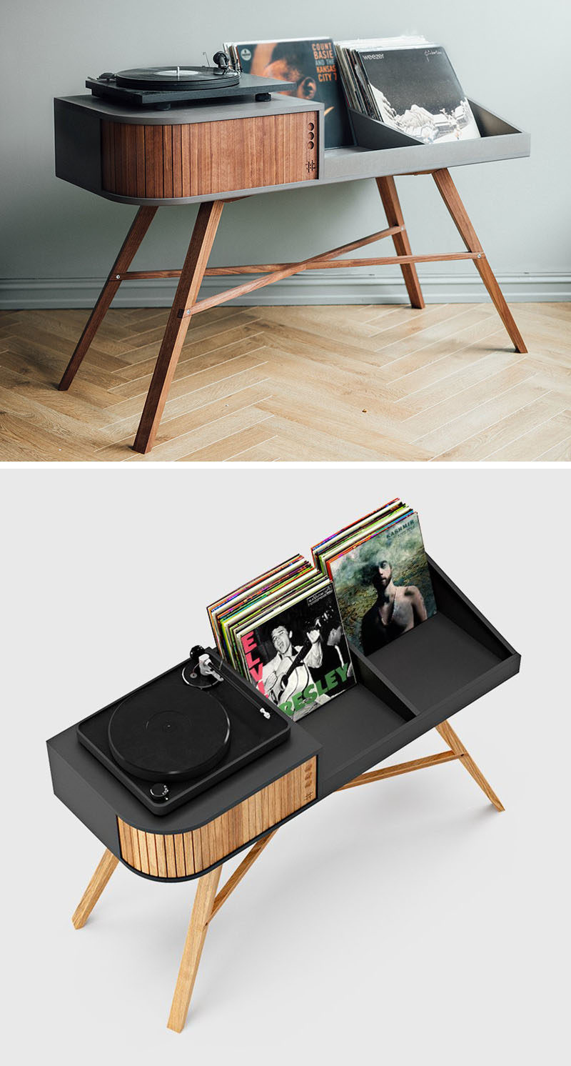 Furniture Designed To Provide A Space For A Turntable And Display Your Vinyl Record Collection