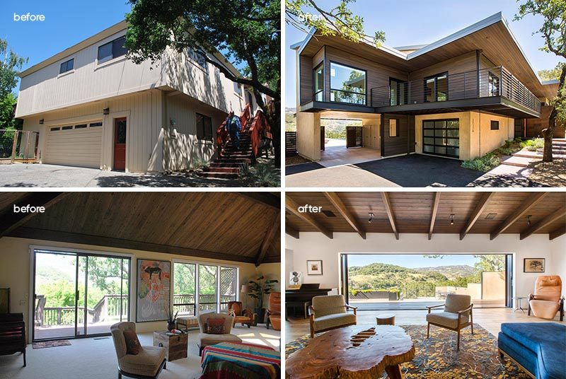 Baran Studio Architecture has collaborated with Robert McGillis, AIA, to transform a dated house in Sonoma, California, and turn it into a modern house with plenty of space for entertaining. #ModernHouseRenovation #HouseReno #Architecture