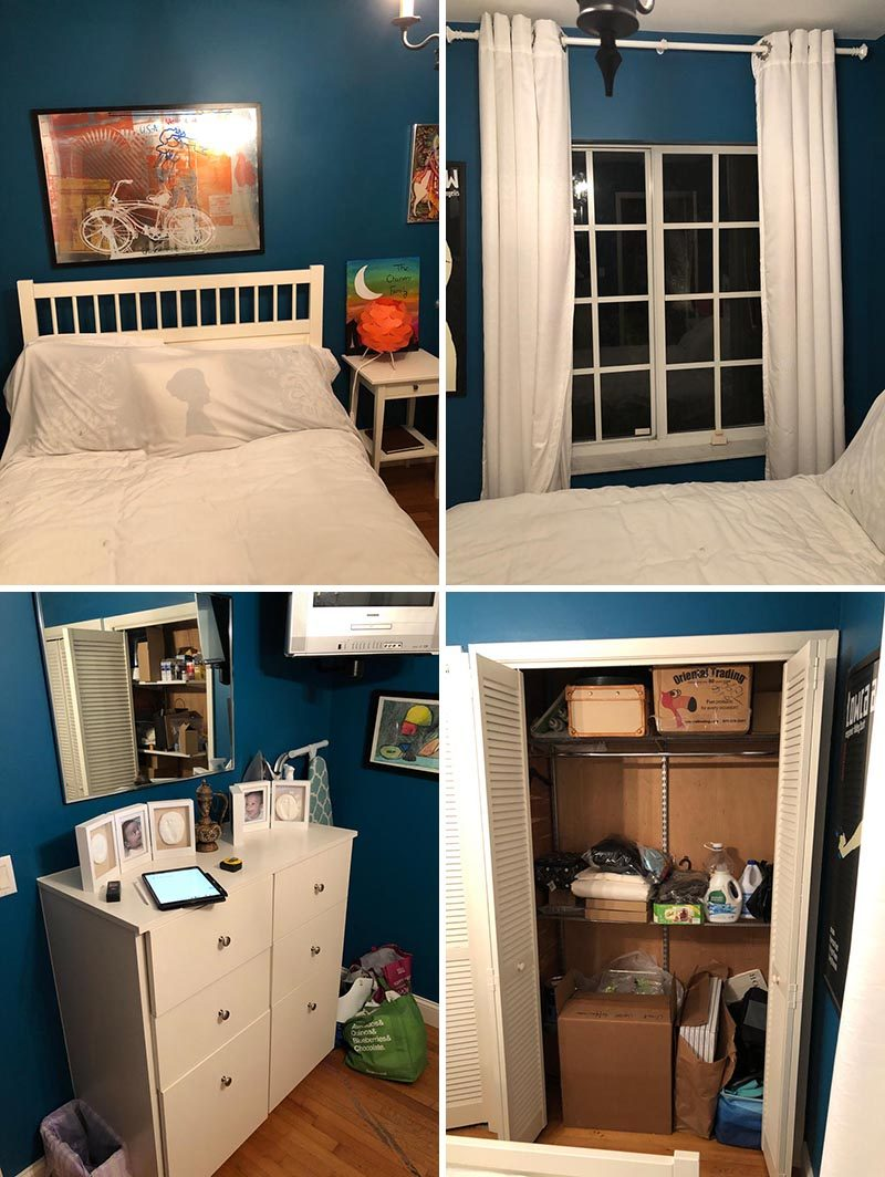 BEFORE PICS > Bedroom Renovation - EFE Creative Lab were tasked with transforming a dark bedroom into a bright and modern girl's room. #BedroomDesign #ModernBedroom