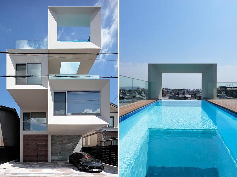 This House Has A Rooftop Swimming Pool With A Window For Views Of