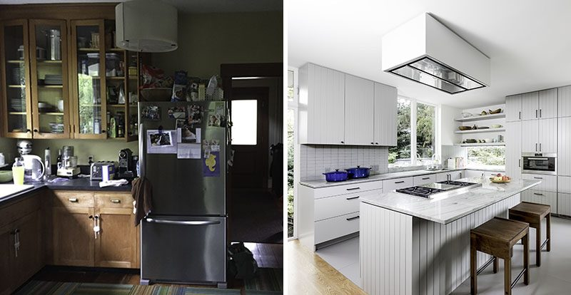 Before & After ? A Brighter And Larger Kitchen For A Renovated Seattle Home