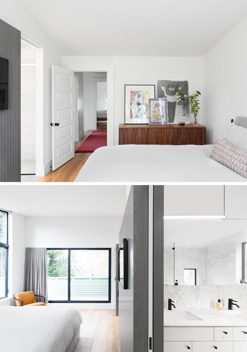 When Best Practice Architecture was renovating a house in Seattle, Washington, they decided to include a new and modern master suite with a balcony, walk-through closet, and en-suite bathroom. #MasterSuiteIdeas #ModernBedroom
