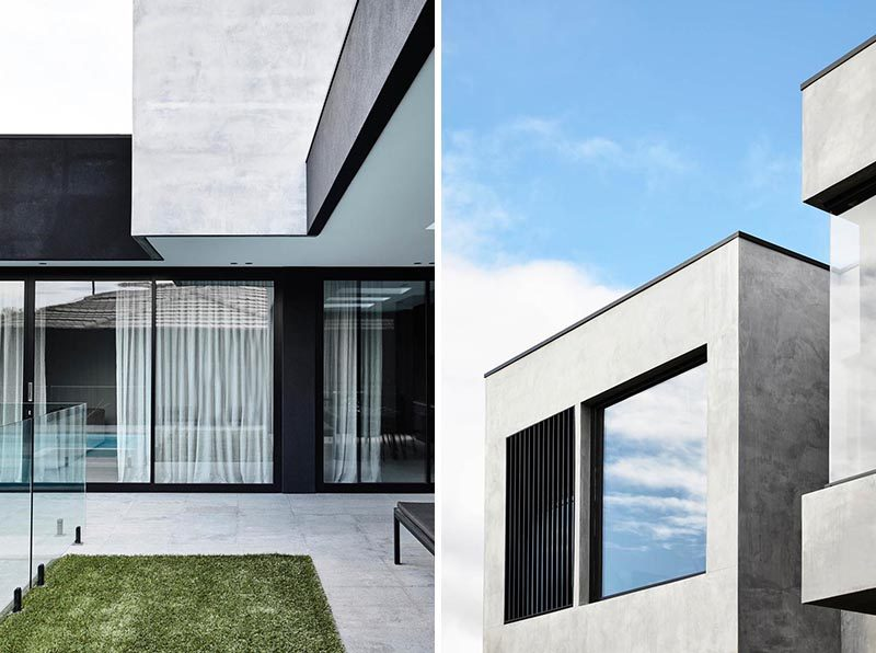 Throughout the house, the designers balanced natural light and dark surfaces to create voluminous and intimate spaces that have a calming effect. #ModernHouse #Architecture #HouseDesign