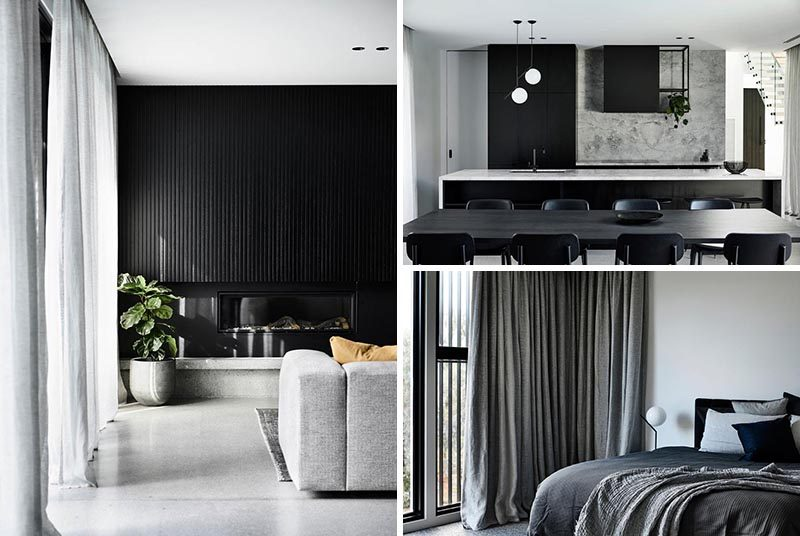 Australian design studio Biasol, has completed a modern house for a young family that desired a home that was modern, minimal, and beautiful. #ModernHouse #BlackGreyInterior #InteriorDesign #ModernInterior