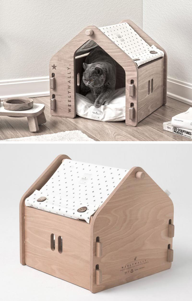 Weelywally Has Created A Line Of Modern Pet Furniture Including Houses And A Couch