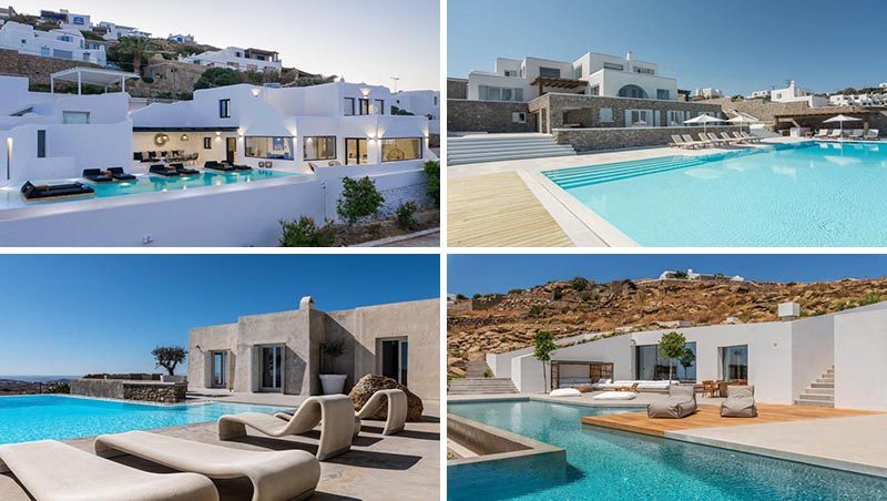 Travel company Kinglike Concierge, have recently added four new properties to their portfolio of vacation villas on the island of Mykonos in Greece. #Mykonos #VacationIdeas #MykonosVillas