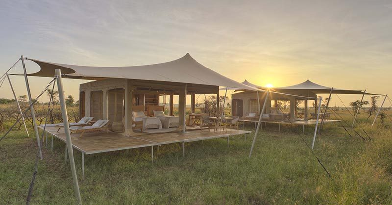 The Roving Bushtops Camp Sits Proudly In The Heart Of The Central Serengeti