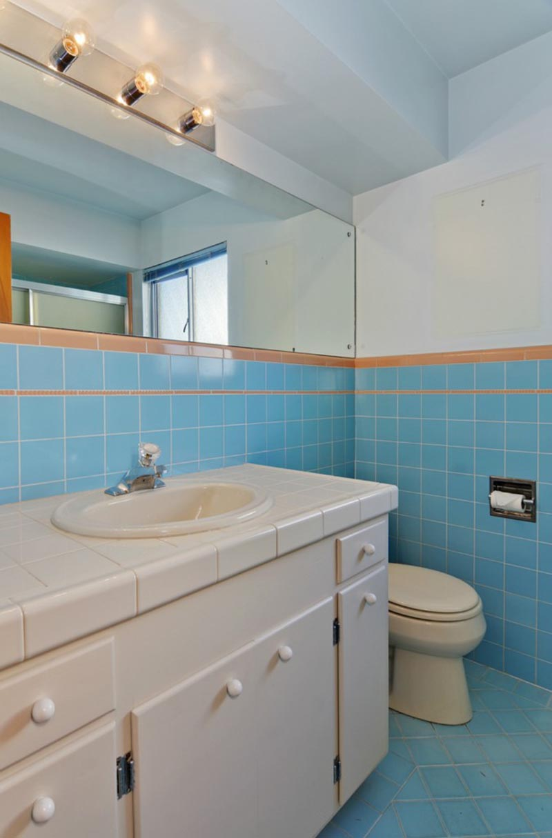 BEFORE PIC - As part of a renovation project, Seattle-based SHED Architecture & Design transformed a dated bathroom and brought it up to today's standards. #BathroomRenovation #BathroomRemodel