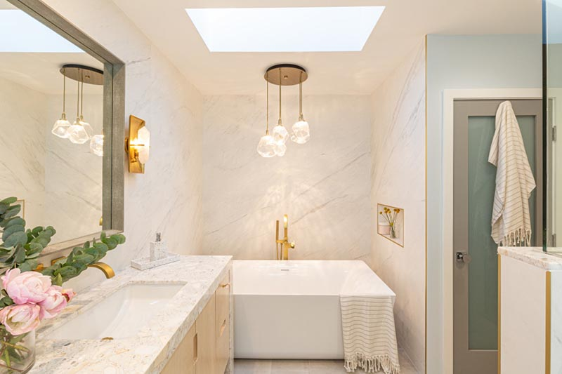 Bathroom Design Inspiration Brass Accents Add A Glamorous Metallic Touch