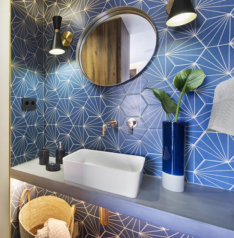 Bathroom Design Ideas - A Blue Starburst Tile Demands ...