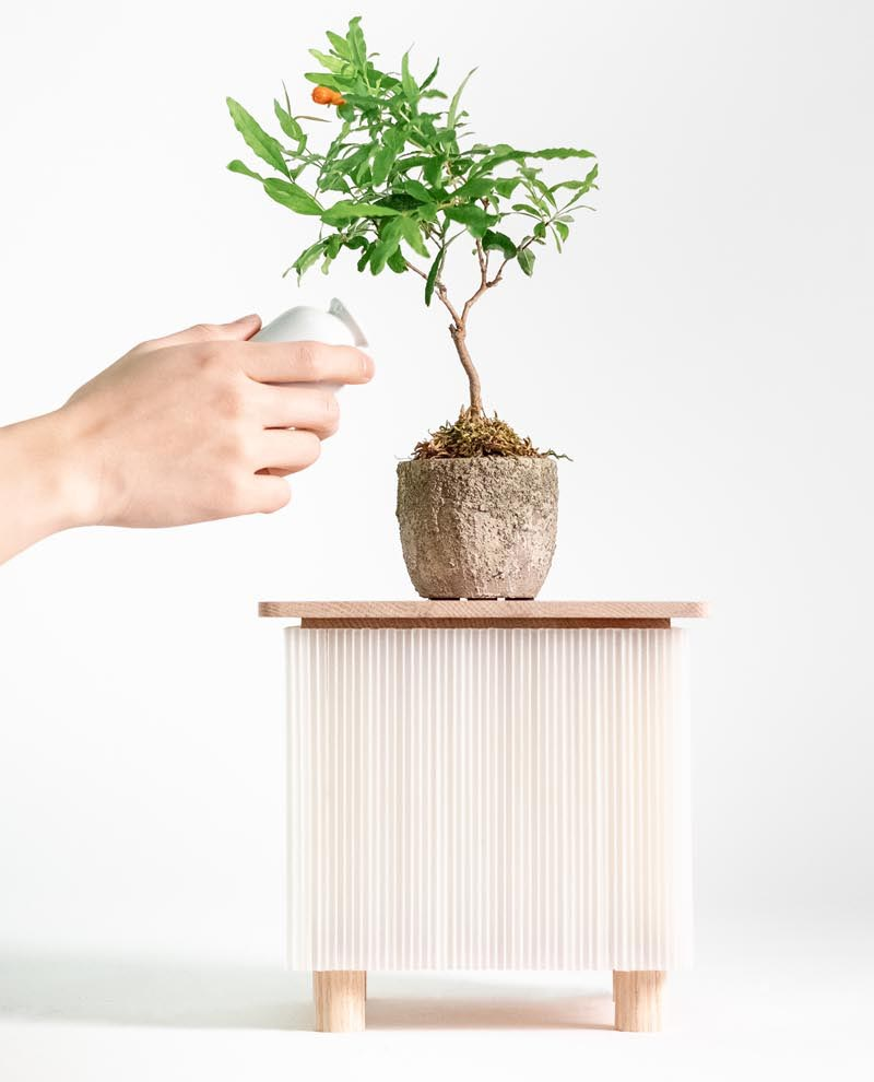 Design studio WOOYOO, has recently launched the Fuwafuwa Series, that's made with translucent corrugated plastic and light-toned oak wood. #ModernFurniture #ModernTables #FurnitureDesign