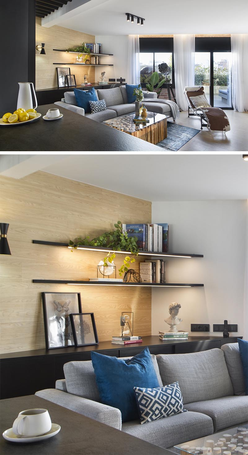 Shelving Idea Corner Shelves With Hidden Lighting