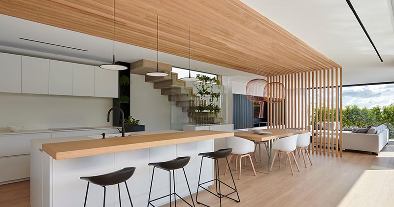 This Combined Kitchen And Dining Room Is Defined By An ...
