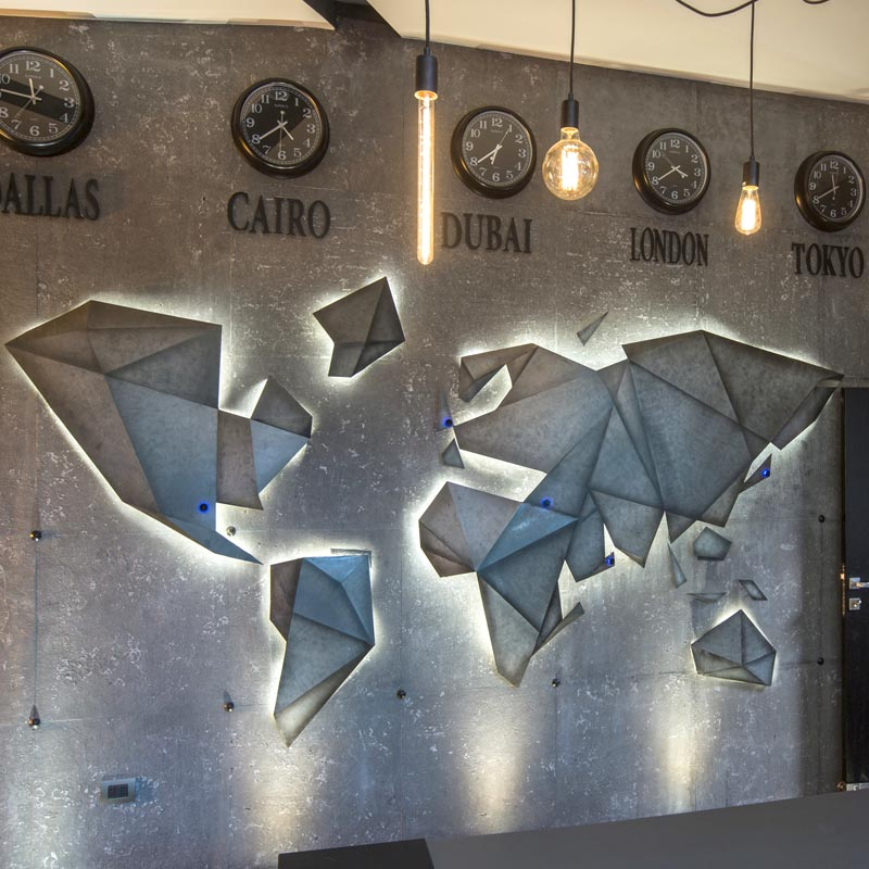 Abstract World Wall Art by Dalia Sadany #Design #Art
