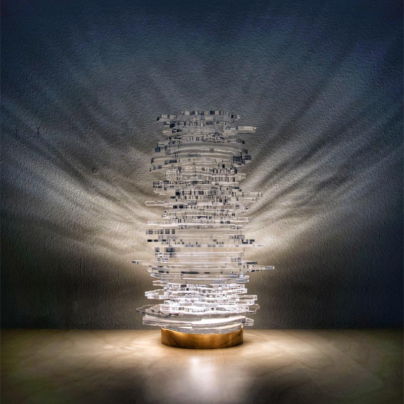 Diatom Lights Illumination by Yingri Guan #TableLamp #Lighting #Design