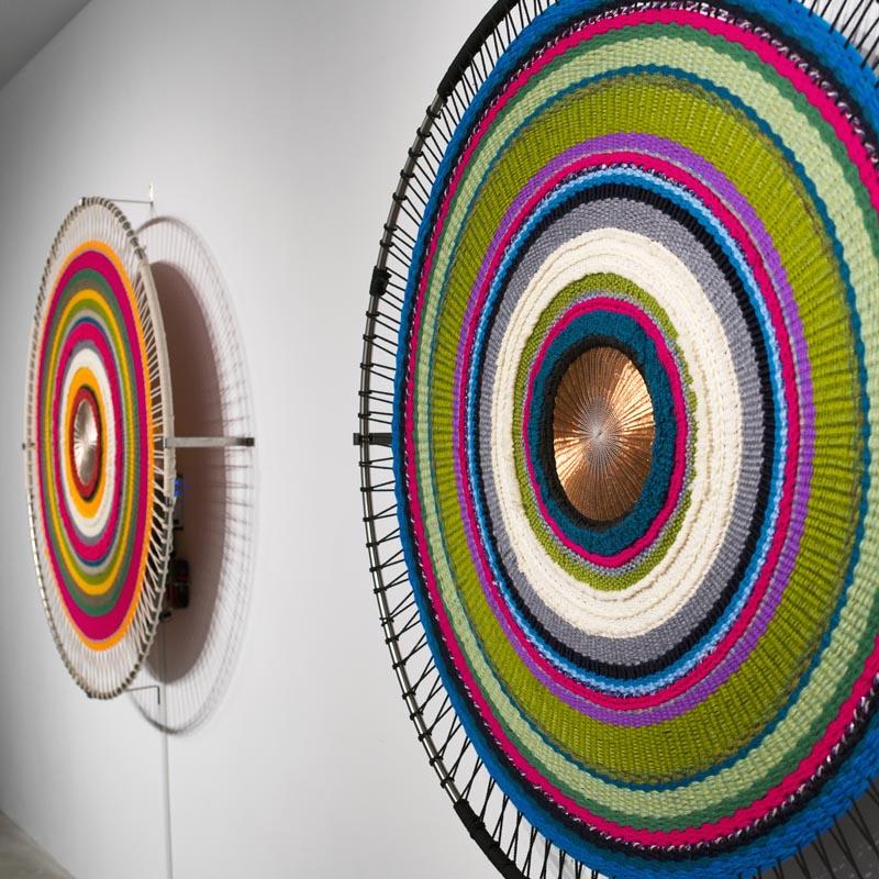 Sound Circles Taiwan Sonic Textile Installation by Hyojin Yoo and Nupur Mathur #ArtInstallation #Wall Art
