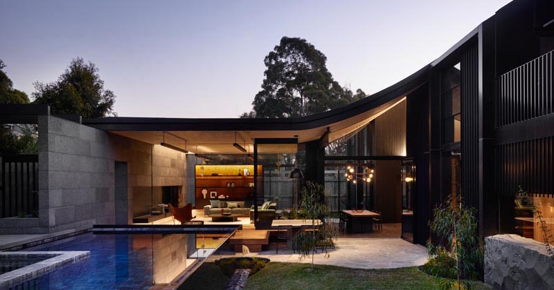 Rough Boulders Positioned Throughout This House Are A Tribute To The Rugged Landscape Of The Area