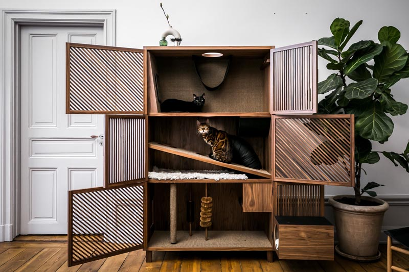 The Cat Flat Is A Large Piece Of Pet Furniture That?s Designed To Not Look Out Of Place In A Contemporary Interior