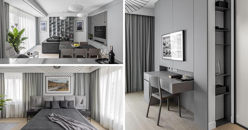 This Grey Monochromatic Apartment Interior Was Inspired By Trips To The Arctic