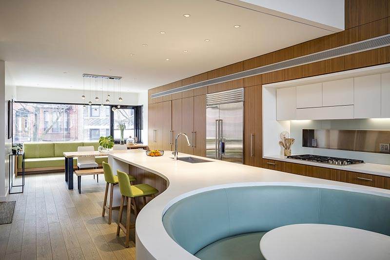 This Kitchen Island Was Combined With A Seating Area On ...