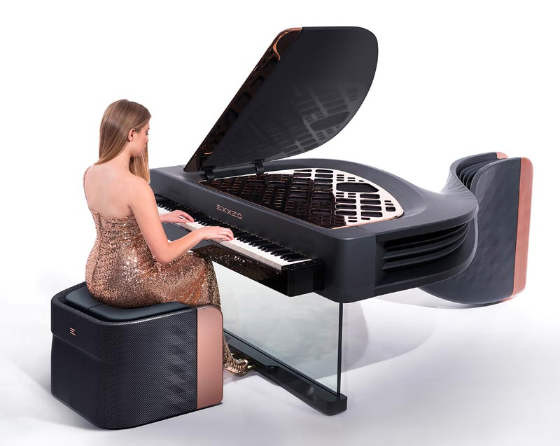 Exxeo Luxury Hybrid Piano by Iman Maghsoudi.