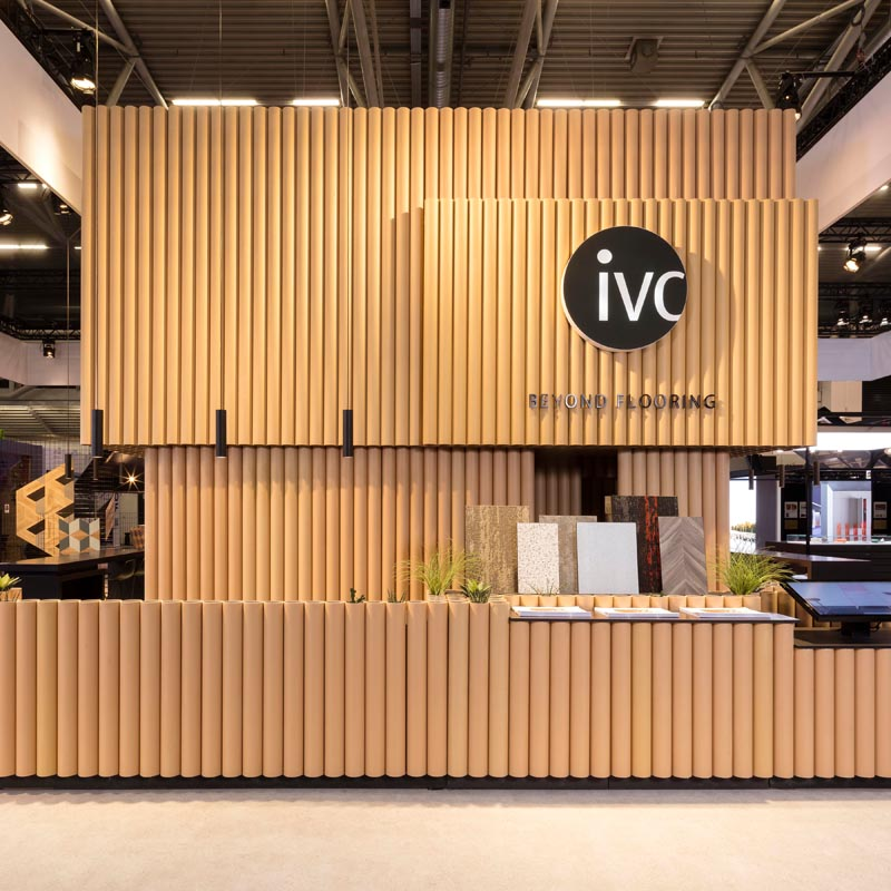 IVC Beyond Flooring booth Exhibition Booth by WeWantMore.