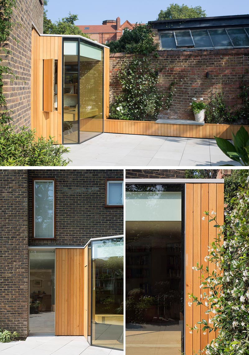A Home Office Was Created By Adding A Small Extension To This