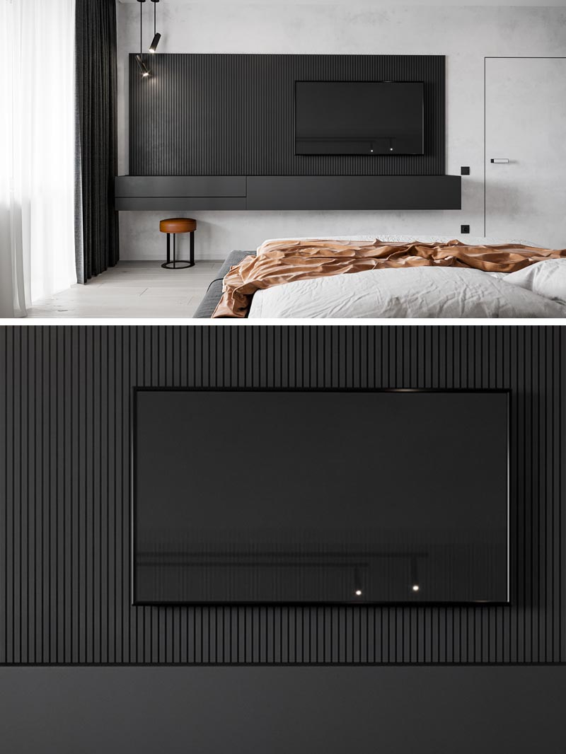 This Floating Bedroom Sideboard Includes A Hidden Makeup Vanity