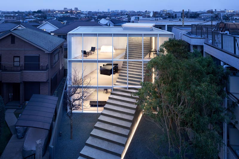 Stairs Carve A Path Through This Minimalist Japanese House