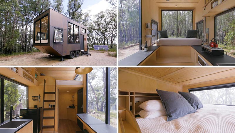 Australian tiny house company CABN has designed Jude, an off-the-grid minimalist tiny house that measures in at just 150 square feet (14sqm). #MinimalistTinyHouse #TinyHome