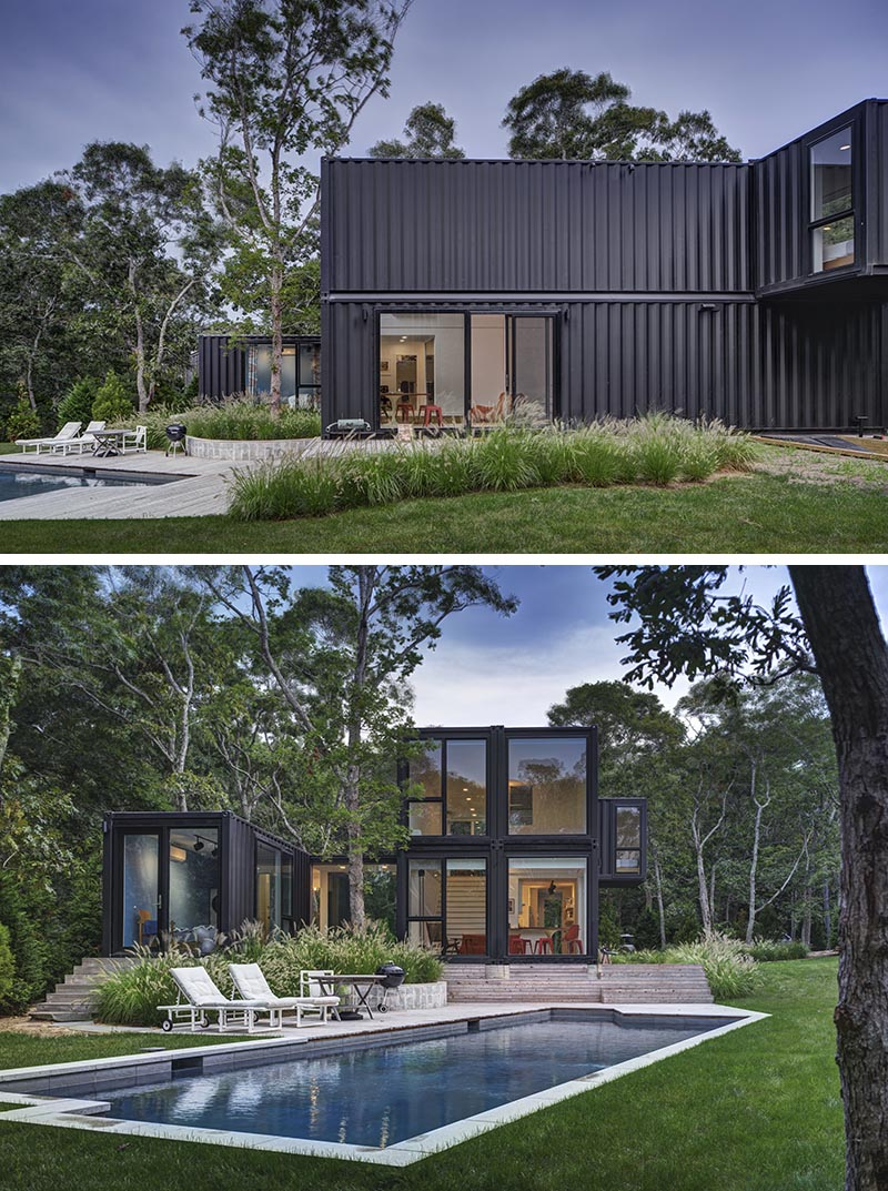 Modern Shipping Container Home this house made from shipping containers was designed for a