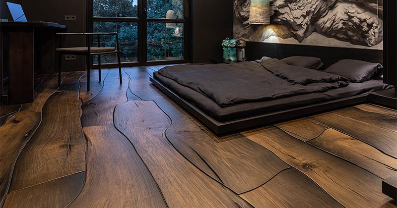 This Unique Wood Flooring Fits Together Like Puzzle Pieces