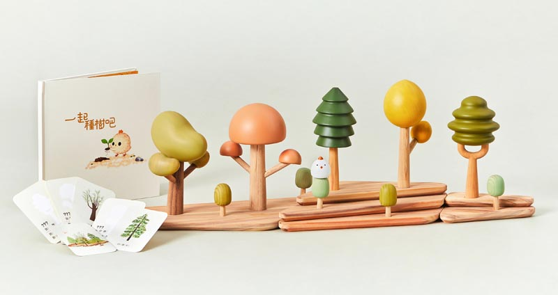 GrowForest Educational Learning Toy by Peishan Cai, Wanling Gao and Haochun Hu.